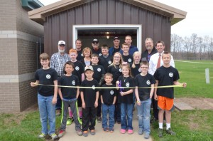 Front: Keegan Tom, Simon Miller, Toby Harges, Zachary Mehlberg, Addison Mehlberg, Drake Chilafoe and Thad Harges.  Second row: Thomas Coulter, Cade Williams, Kelsey Nethercutt, Madison Johnson and Mr. Lee Snider,  principal.  Third row: Eileen Ransbottom, Alex Ransbottom, Mason Johnson, Ivory Snipes of Echoes of the Past, Dave Mehlberg, Dan Ransbottom and Adam Heckaman, president of Echoes of the Past.  Not pictured: Steve Reed.