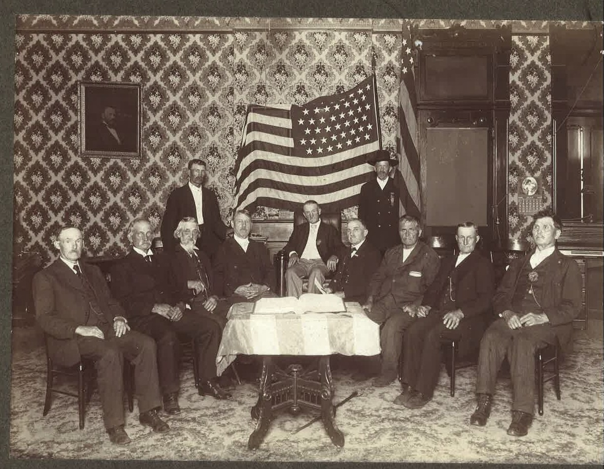Old Civil War Union soldiers.