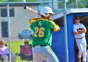 Drake Hyden led the Vikings with three RBIs thanks to his three-run homer in the first inning.