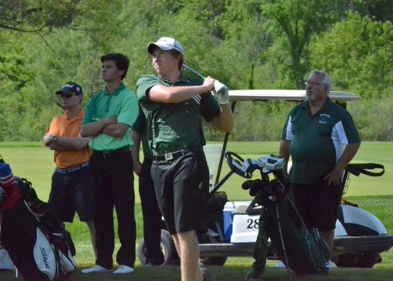 Jeffrey Moore led Wawasee with a 79 on Saturday. (Photos by Nick Goralczyk)