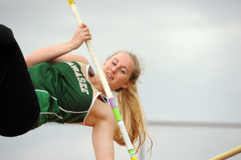 Taylor Busse of Wawasee claimed an event win in the pole vault Tuesday against Elkhart Memorial and Concord. (File photo by Mike Deak)