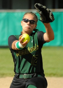 Wawasee pitcher Meghan Fretz delivers to Bremen.