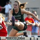 Lexi O'Connell of Tippecanoe Valley was the 100-meter hurdles champion at the Rochester Girls Track Sectional.