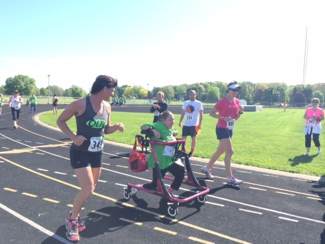 Melinda Price takes part in the Run/Walk/Roll at WCHS on May 24. The event raise money for Special Olympics (Photo provided)