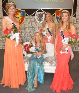 The 2014 Queen of Lakes Court are Alexis Linnemeier, first runner up, Queen of Lakes McKenna D'Arcy, Katlyn Eberley, second runner-up and Jenna Coy, third runner-up. (Photo by Deb Patterson)