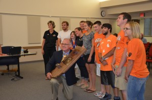 Warsaw Community High School's Unified Track and Field Team presented their State Championship plaque during the WCS Board Meeting. (Photo by Alyssa Richardson)