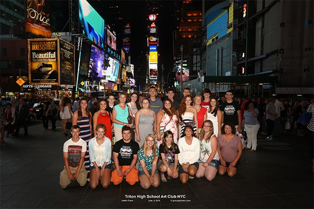 triton high school art club in NY