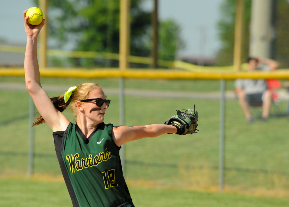 Wawasee hurler Amber Lemberg tossed two shutouts and earned three wins at the Fairfield Softball Sectional. (Photos by Mike Deak)