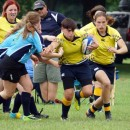 Makinzie Hoagland of the Rugby Indiana squad makes her way against New York West.