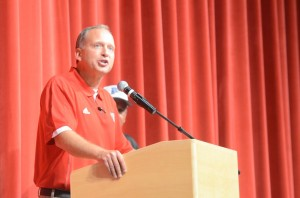 Grace College Athletic Director Chad Briscoe shares his thoughts Tuesday night.