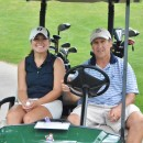 Krista and Rob Zurcher took a second to smile for the camera in the middle of their daughter-father bonding time on the course.