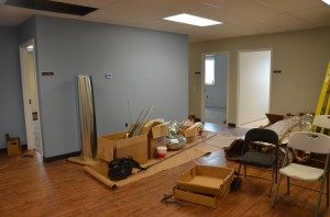 The interior, which was full gutted and reconstructed, is nearing completion at the new Fellowship Mission's shelter located on Winona Avenue in Warsaw. (Photo by Alyssa Richardson)
