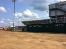 Construction to Warrior Field likely will not be completed by season's end.
