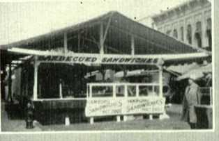 County fair in downtown Warsaw during the 1920s.