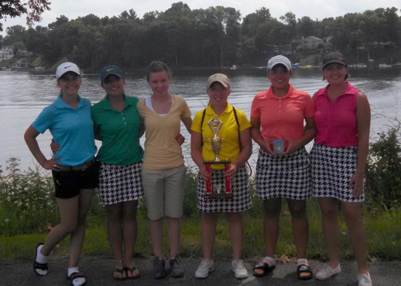The NorthWood girls golf team won the Plymouth Invitational championship Wednesday (Photo provided by Adam Yoder)