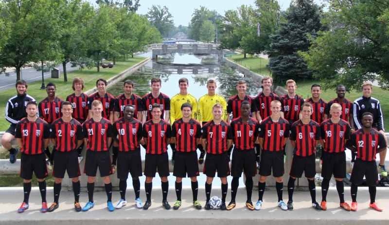 The Grace College men's soccer squad will count on a large senior class to lead the way this fall (Photo provided by Grace College Sports Information Department)