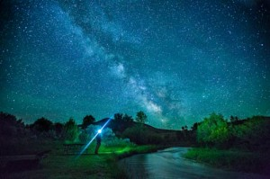 One of the several beautiful night shots from a camp spot along the path of the Tour Divide. (Photo by Mason Geiger)