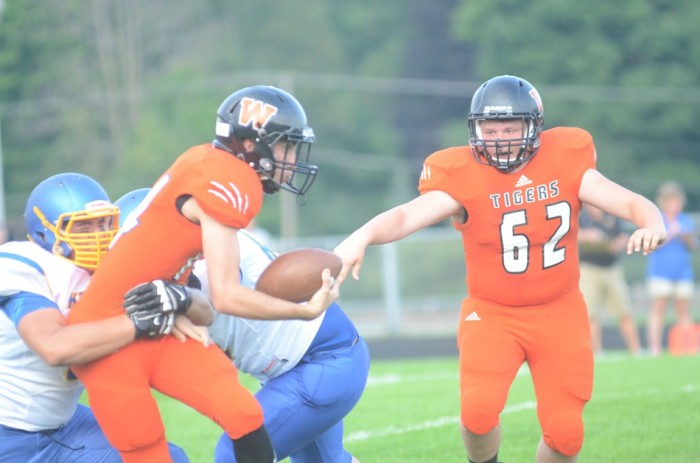 Quarterback Jake Mangas was clutch for the Tigers Friday night.