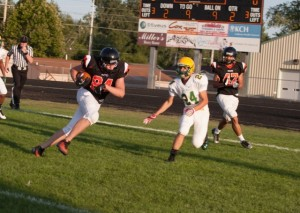Matt Anthony goes in for a score for the Tigers (Photo by Ansel Hygema)
