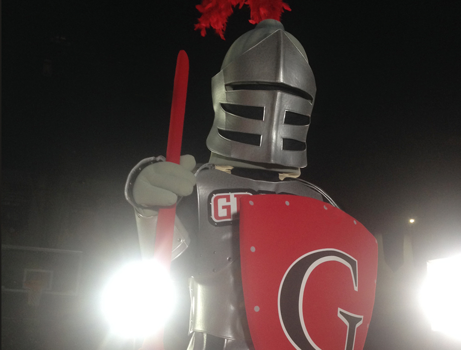 Grace College's new mascot Sir Red