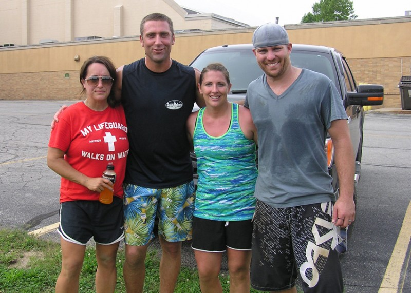 The Rain Makers team won the 10th anniversary North Webster Community Center volleyball tournament. From left to right are Rachel Bowers, Jamie Bowers, Lisa Setser and Nathan Setser. (Photo provided)