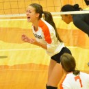 Cassie Hoag was ecstatic after getting a kill late in game three.