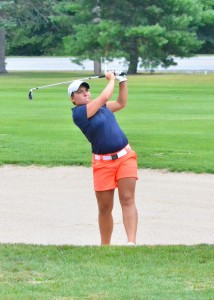 Linnzie Richner led all players with a 76 on Saturday. (Photos by Nick Goralczyk)