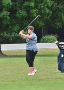 Rebecca Bender shot her two best nine-hole rounds of the year to finish with a 111 for Wawasee.