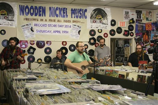 Plaxton and the Void performing at the Wooden Nickel on Record Store Day.