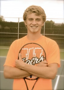 Warsaw senior Sam Rice will hold down the No. 1 singles role again for the Tigers. (Photo by Scott Davidson)