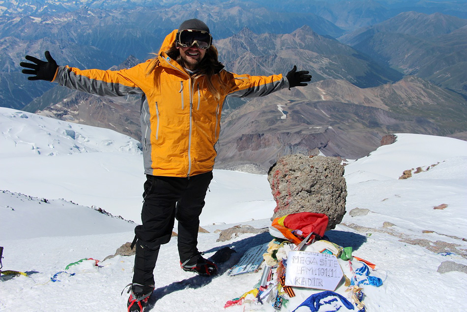 Millersburg native Tommy Locklin stands at the peak of Mt. Elbrus in southwest Russia during his second of seven summit climbs as part of the More Than Just Mountains campaign. (Photos provided by Tommy Locklin)