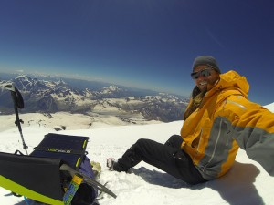 Tommy Danger atop Mt. Elbrus in Russia.