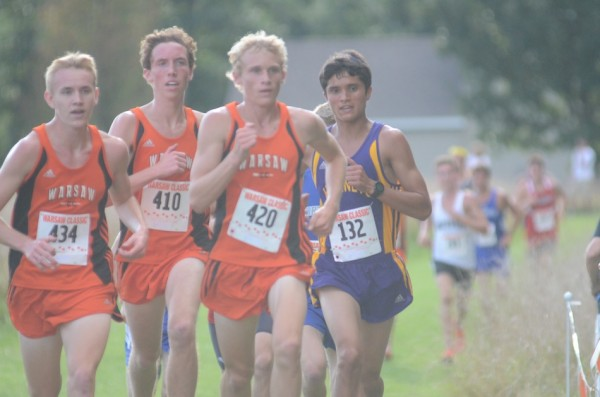 Warsaw's talented trio of Daniel Messenger, Nick Bergen and Owen Glogovsky lead the way Tuesday.