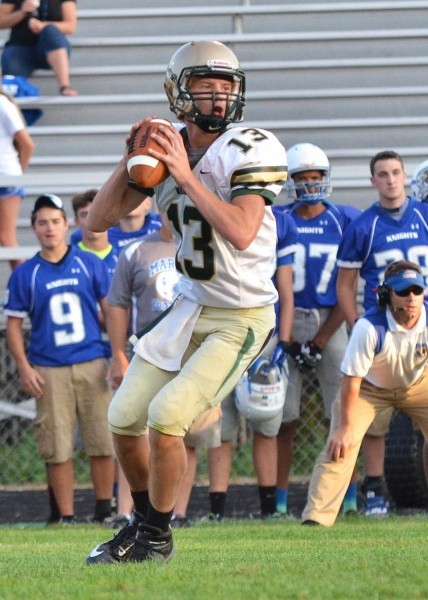 Standout quarterback Gage Reinhard will look to lead the way for Wawasee Friday night. The Warriors host Northridge in a huge NLC showdown.