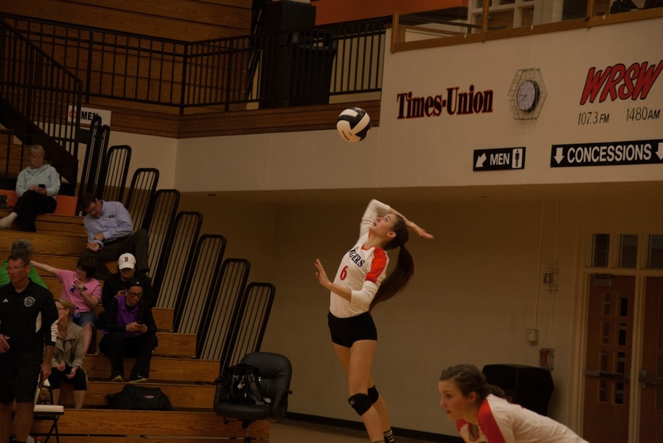 Cassie Hoag helped serve the Tigers past Columbia City.