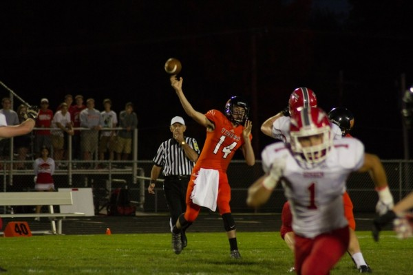 Quarterback Jake Mangas had another stellar showing for the Tigers in Friday night's 24-0 win over Goshen.