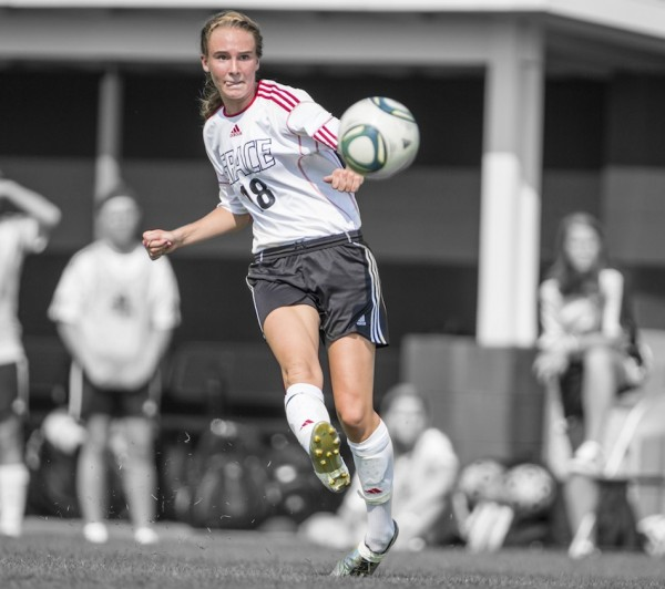 Carianne Sobey is the all-time leader in assists for the Grace College women's soccer program (Photo provided by the Grace College Sports Information Department)