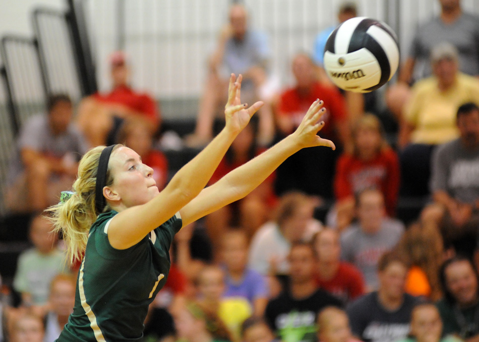 Wawasee's Aly Anderson passes the ball after a Plymouth attack Thursday night.