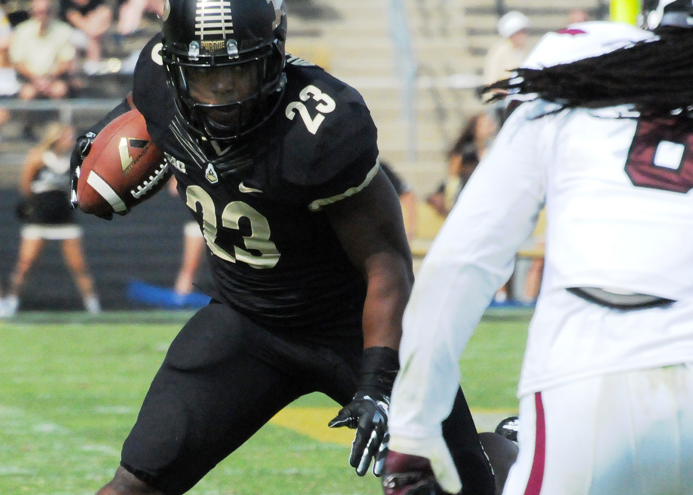 Purdue running back Keyante Green rushes against Southern Illinois.