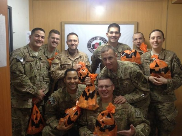 Soldiers from around the world have begun receiving their Halloween treat bags from Operation Treat A Soldier. With Halloween coming to a close, the next drive, Treasures For Troops, will begin in November offering soldiers overseas holiday cheer and personal gratitude.