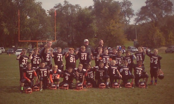 The Young Tiger football program had an undefeated team this fall. The lower division team shown above went 7-0 with seven shutouts (Photo provided)