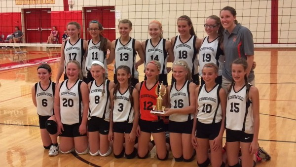The Edgewood 7th grade volleyball team won the Westview Middle School Invitational Championship (Photo provided)