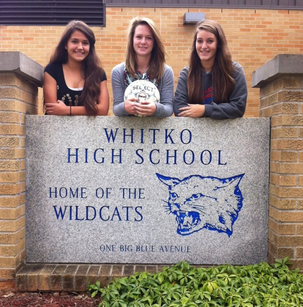 Whitko soccer players (from left) Leighandra Goodman, Mikayla Findley and Heather Bryan will play in an All-Star event (Photo provided)