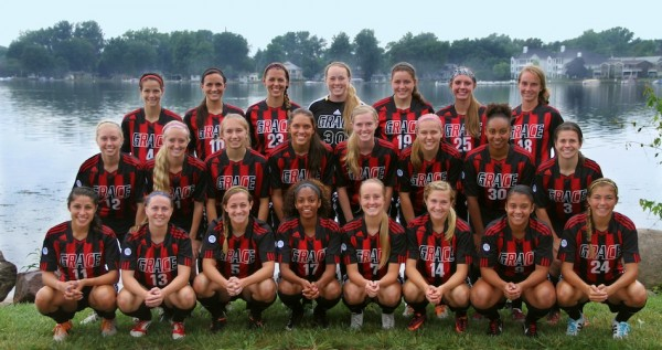 The Grace College women's soccer team is ranked this week for the first time in the history of the program (Photo provided by the Grace College Sports Information Department)