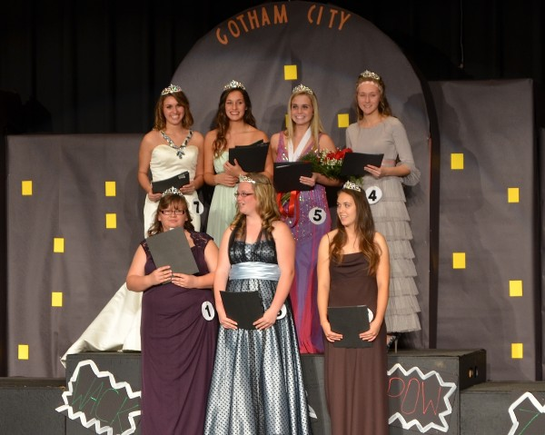 The winners, back row, from left: Rachel Chickering, Makkalya Musilli, Kylie Mason and Arianna Nelson; front row, from left: Kayla Burkett, Shelby Wagoner, Lillie Berger.