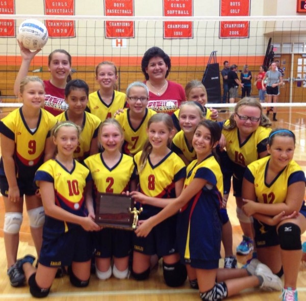 The Eisenhower Elementary volleyball team won the city championship (Photo provided)