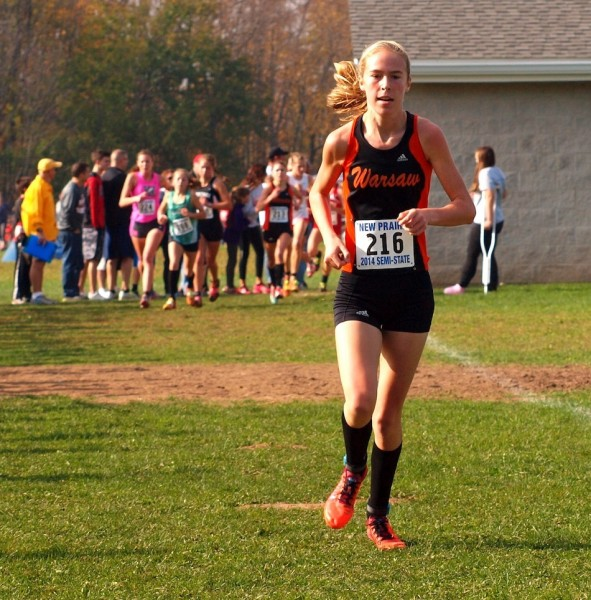 Warsaw sophomore Allison Miller will lead her sixth-ranked team at State on Saturday (File photo by Tim Creason)