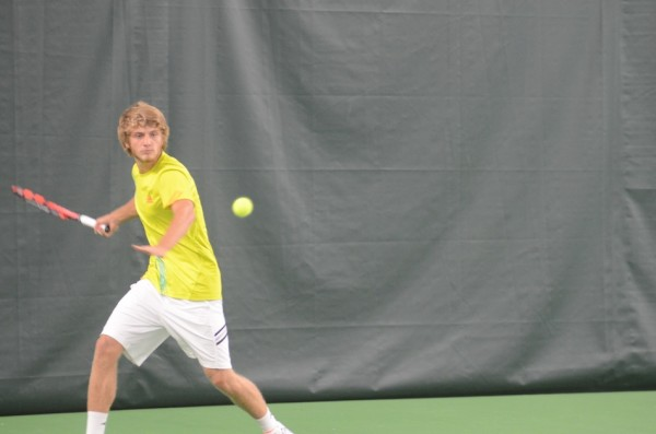 Warsaw senior Sam Rice earned a win at No. 1 singles Tuesday night in the  regional semifinals.