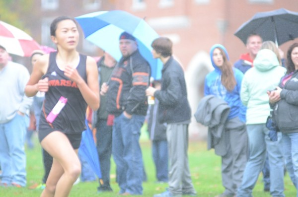 Warsaw's Anna Craig was fourth overall in the regional Saturday.