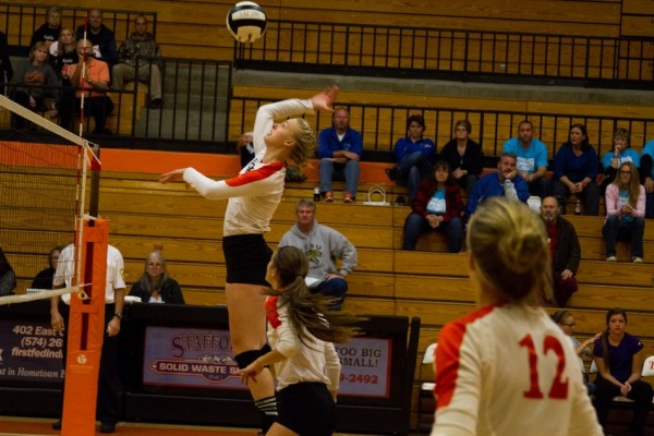 Senior standout Katie Voelz will be a big key for Warsaw  when sectional play opens for the Tigers on Thursday at Concord (File photo by Ansel Hygema)